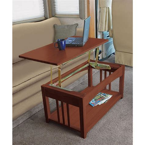 Swing Up Coffee Table Swing Up Coffee Table Walnut Direcsource Ltd D32 0002 Furniture Cing World