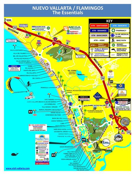 vallarta map of mexico nuevo vallarta is just 15 minutes of vallarta