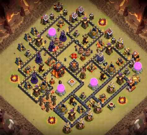 th9 base with war bomb tower 2016 15 epic town hall 9 war base anti 3 star 2017 bomb