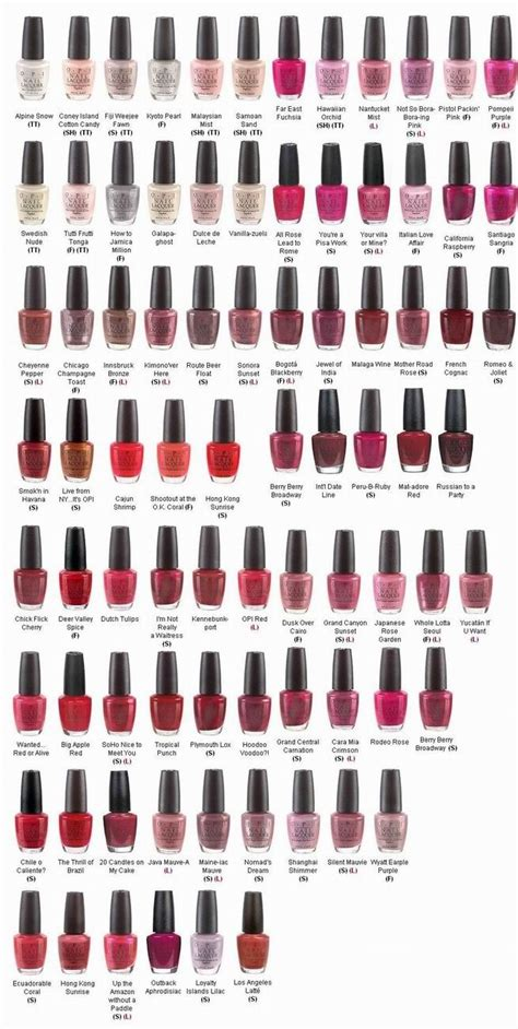 opi pink colors nail opi colors chart best nail designs 2018