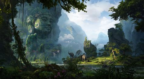 artstation unexplored ruins  buddha renju mv