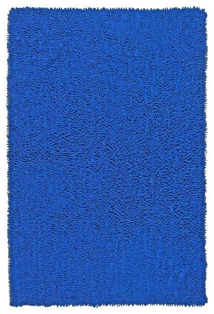 neon blue shagadelic chenille twist rug