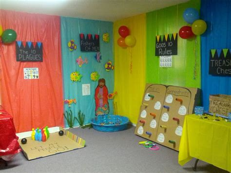 Sunday School Decorations by Bible Zone Added Finishing Touches With Balloons Can