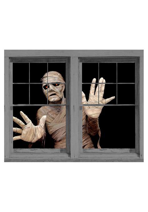 window clings menacing mummy window cling