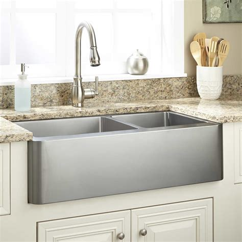 Stainless Steel Farm Sinks For Kitchens 30 Quot Hazelton Stainless Steel Farmhouse Sink Farmhouse Sinks Kitchen Sinks Kitchen