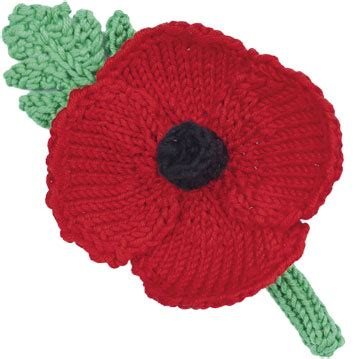 Free Pattern For Knitted Poppies | how to make a knitted or crochet poppy wreath