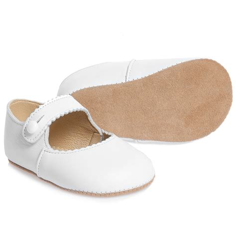 early days white leather pre walker shoes
