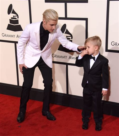 justin bieber biography siblings justin bieber s little brother jaxon stole the grammys