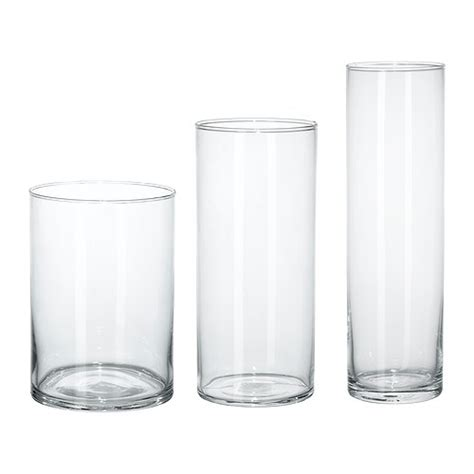 Glass Vase Set Cylinder Vase Set Of 3 Ikea