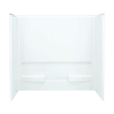 fiberglass bathtub surround shop sterling advantage white fiberglass and plastic