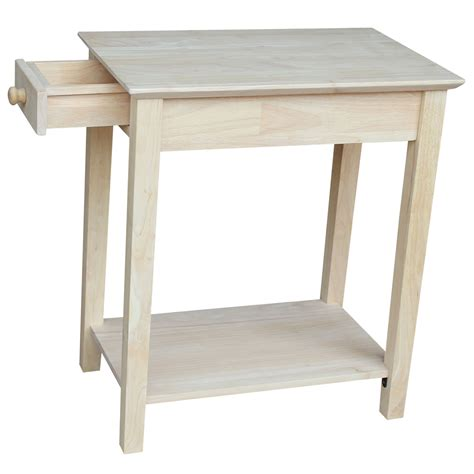 narrow accent tables international concepts occasional unfinished wood narrow