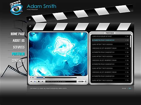 Movie Producer Easy Flash Template Id 300110124 Producer Website Template