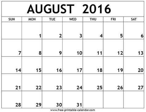 august  printable calendar summertime pinterest printable calendars   calendar