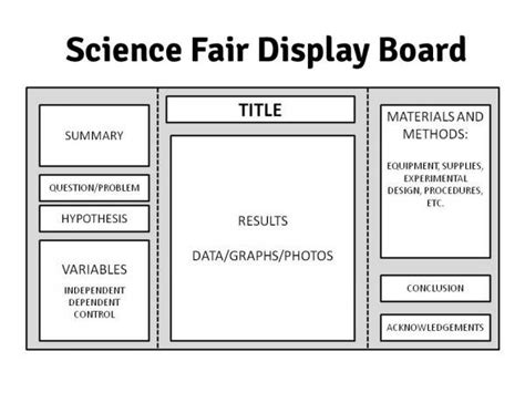 Science Fair Project Template 25 best ideas about science fair display board on