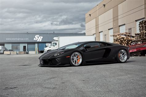 Lamborghini Aventador Black Matt by Matte Black Lamborghini Aventador Lowered On Pur Wheels