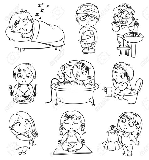 health coloring pages preschool good health habits cliparts black and white clipartsgram