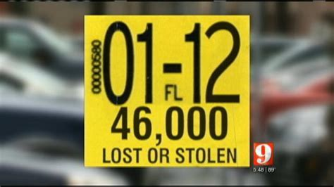 Lost Registration Sticker report lost or stolen registration stickers cost state