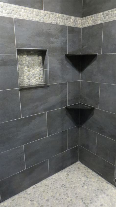 grey pebble tiles bathroom 25 best ideas about pebble tile shower on pinterest