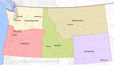 northwestern united states map northwestern us maps