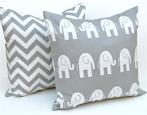Decorative Elephant Pillows by Decorative Pillows Children Decor Gray Animal By