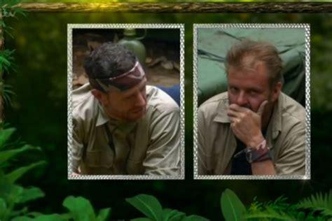 celebrity jungle elimination i m a celebrity wayne bridge and martin roberts exit