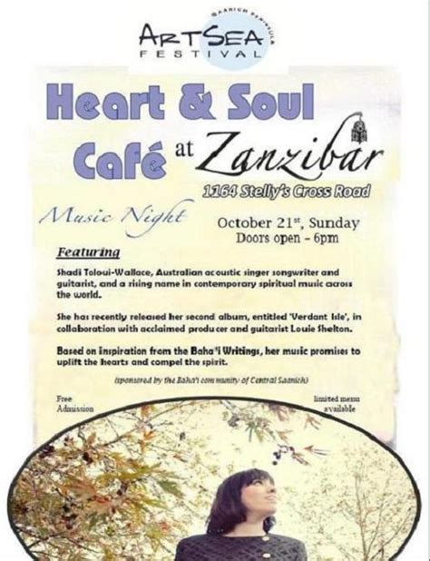 Once A Month Mba Programs by And Soul Cafe Baha Is Of Central Saanich