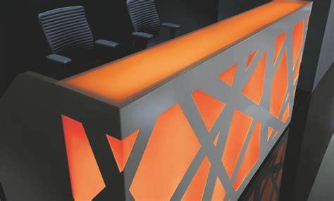 Illuminated Reception Desk Zigger Illuminated Reception Desks Reality