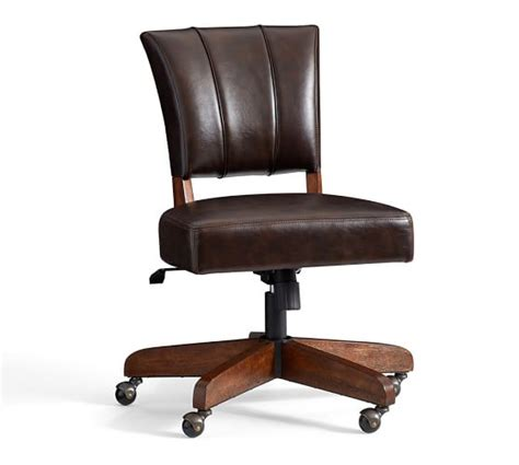 desk chair elliot swivel desk chair pottery barn