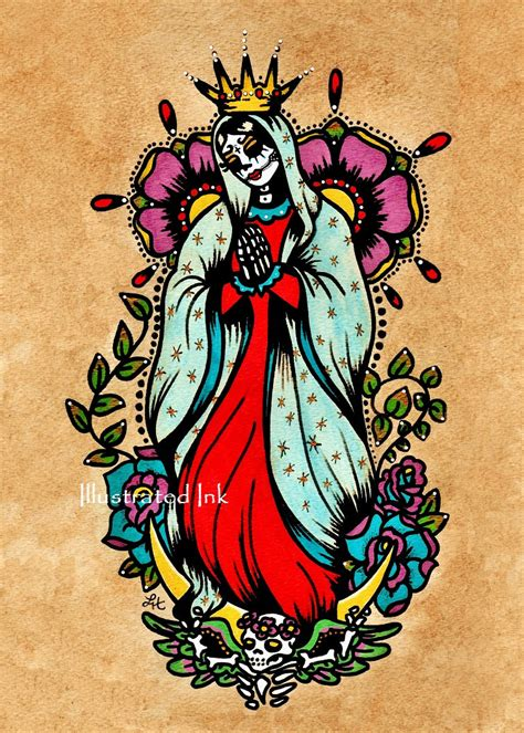 tattoo old school artist day of the dead virgen de guadalupe old school tattoo art