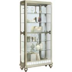 Curio Cabinets In Curio Cabinet In Platinum Silver By Pulaski Home Gallery