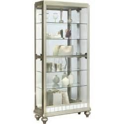 Curio Cabinets Silver Curio Cabinet In Platinum Silver By Pulaski Home Gallery