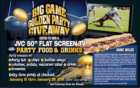 Foodtown Gift Card - big game golden party giveaway foodtown