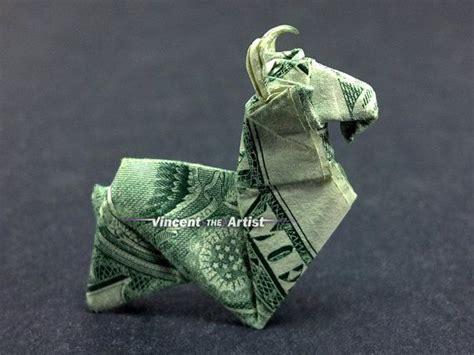 Origami Dollar Animals - tiny ram money origami animal dollar bill by