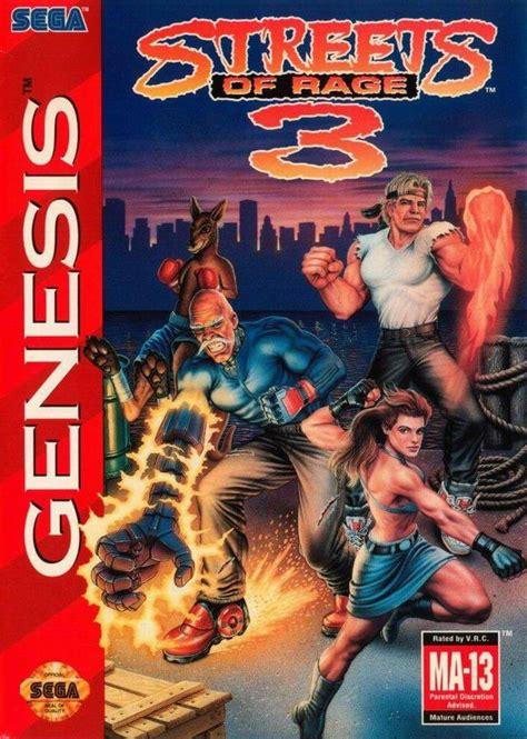 streets of rage 3 genesis streets of rage 3 box for genesis gamefaqs