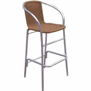 Outdoor Wicker Bar Stool G A Seating Newport Aluminum Wicker Outdoor Bar Stool 925