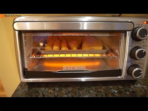 What Can I Make In A Toaster Oven Black Amp Decker To1303sb 4 Slice Toaster Oven Review Youtube