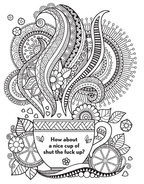 printable coloring pages swear words curse word coloring pages just colorings