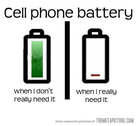 Meme Telephone - how my cell phone battery works the meta picture