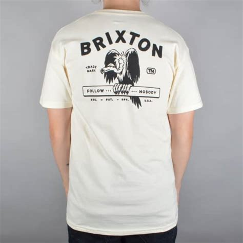 Tshirt Brixton Abu brixton loner t shirt white skate clothing from