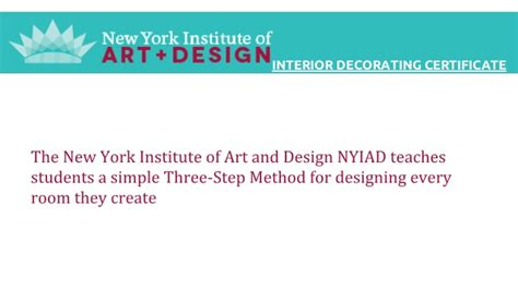 interior decorating certificate from the new york