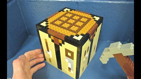 lego crafting table minecraft youtube