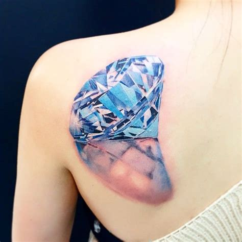 gem tattoo realistic back tattoos
