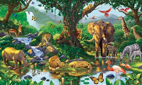 jungle wall mural natures harmony wall mural pictures