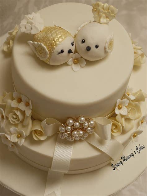 Golden Wedding by Isobella Golden Wedding Anniversary Cake