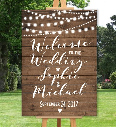 Eheringe Zeichen by Personalised Welcome Wedding Sign Un Backed A3 A2 A1