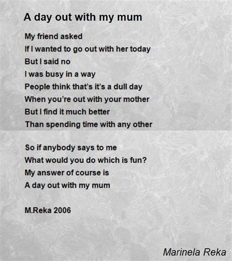 poems for my a day out with my poem by marinela reka poem