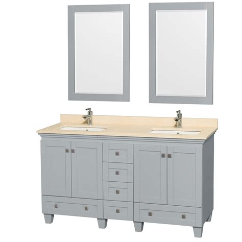 bathroom vanities double sink 60 inches accmilan 60 inch double sink bathroom vanity in grey finish