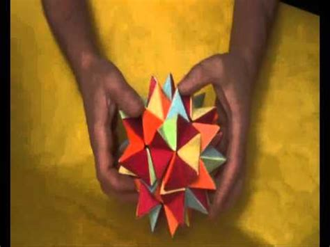 Revealed Flower Origami - revealed flower estrella transformable