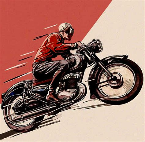 vintage motorcycle vintage motorcycle art inazuma caf 233 racer