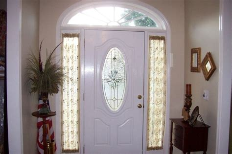 Sidelight window treatments on the main entry doors homesfeed